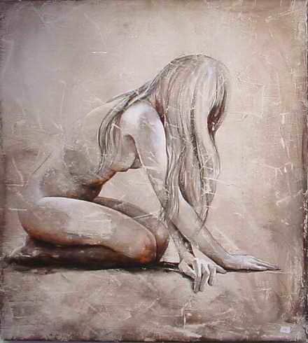 Dana Tomsa Oberhoffer - Study for nude model (collezione privata M.T.)