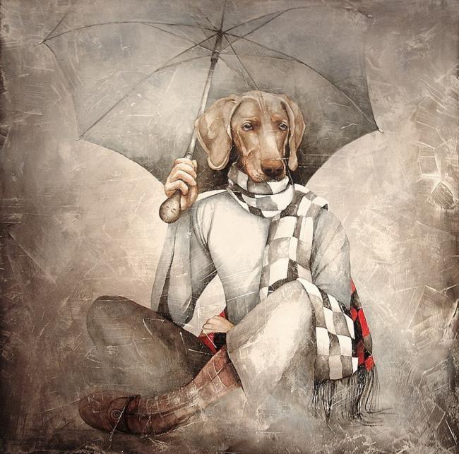 Dana Tomsa Oberhoffer - L'ombrello in prestito (collezione privata Paolo Boncompagni Ludovisi)
