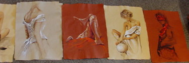 different study's on hand made paper 2 (collezione privata)