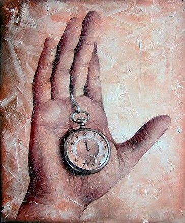 """Dodicesima Ora"", tecnica mista/tavola, 90x70cm, 2006"
