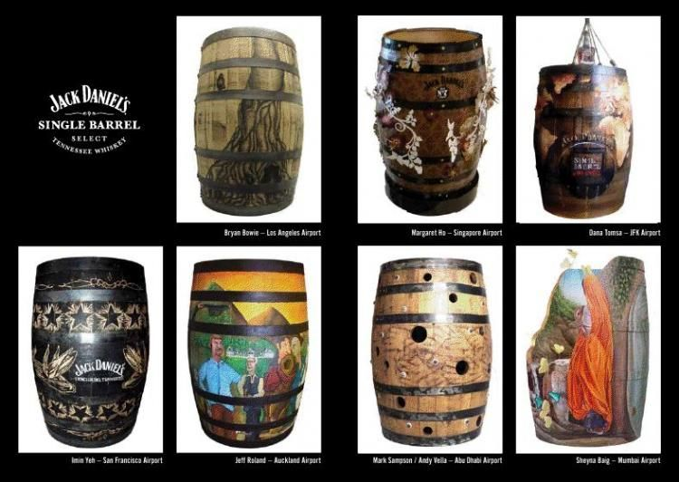 7 Artist - 7 Barrels - 7 unique works of Art Jack Daniel's,  Auction,  Haiti,  New york,  JFK Airport,  London,  Art Barrel Prize 2010,  Hand in Hand,  competion art barrel,  single barrel,  the art oh Tennessee Whiskey,  Dana Tomsa Oberhoffer,  Italy,  artist,